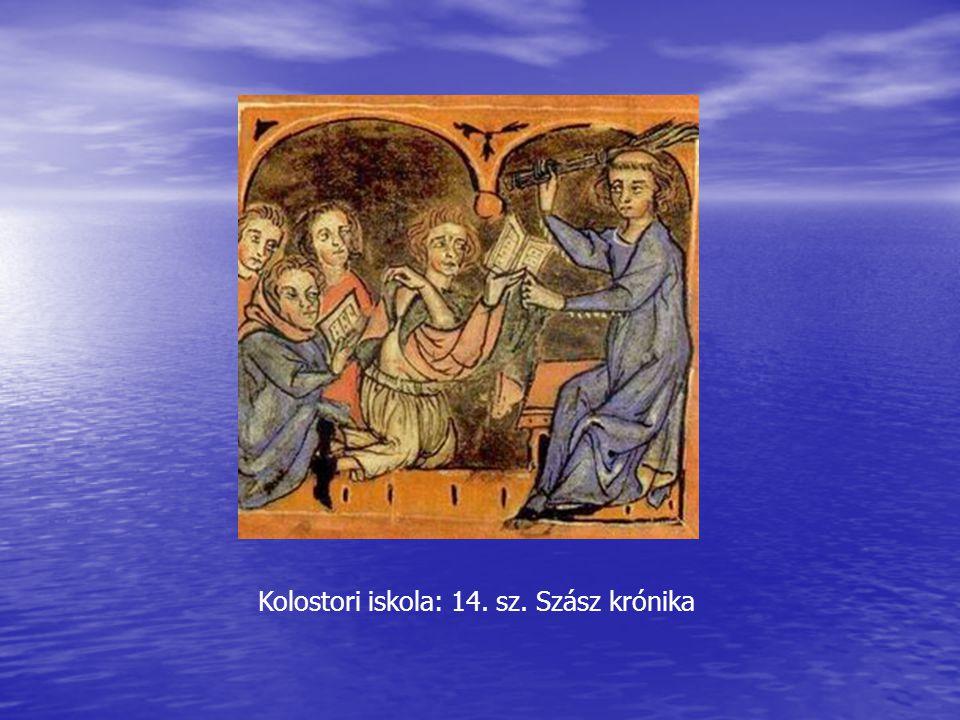 Kolostori iskola: 14. sz. Szász krónika