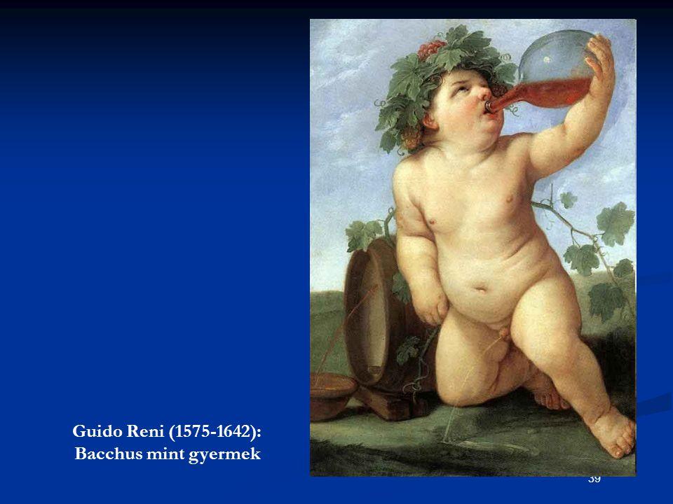39 Guido Reni (1575-1642): Bacchus mint gyermek