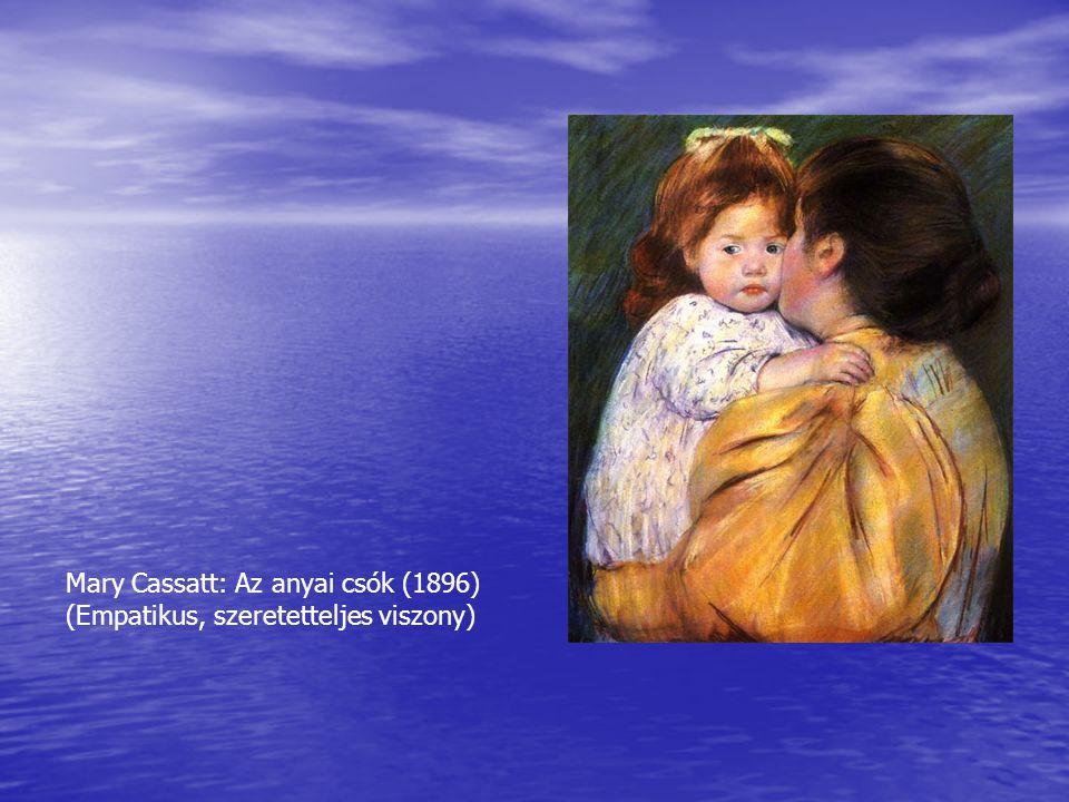 Mary Cassatt: Az anyai csók (1896) (Empatikus, szeretetteljes viszony)
