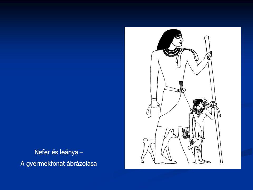 Nefer és leánya – A gyermekfonat ábrázolása