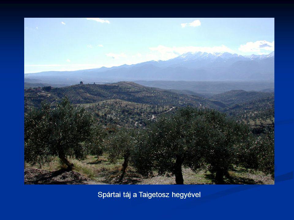 Spártai táj a Taigetosz hegyével