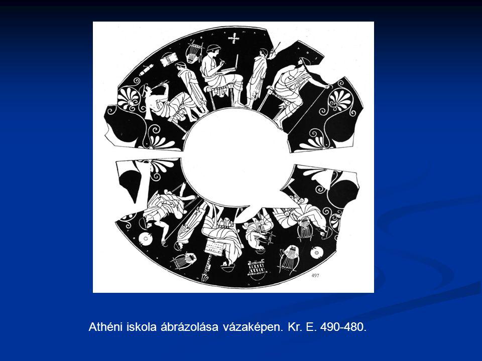 Athéni iskola ábrázolása vázaképen. Kr. E. 490-480.