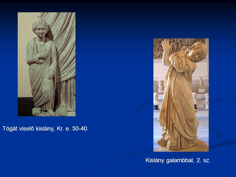 Tógát viselő kislány, Kr. e. 50-40. Kislány galambbal, 2. sz.