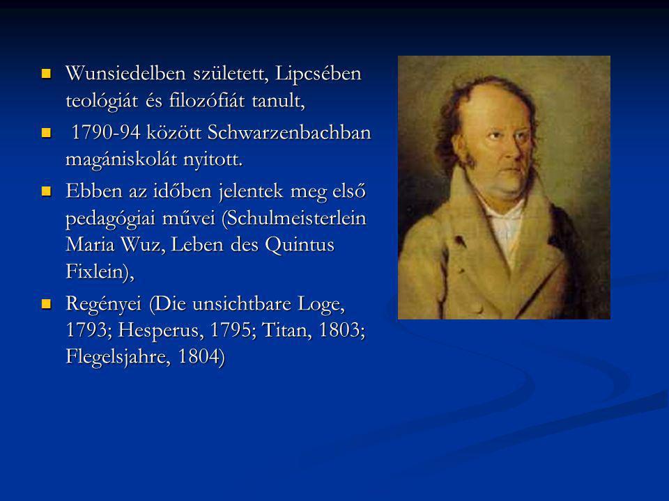Wunsiedelben született, Lipcsében teológiát és filozófiát tanult, Wunsiedelben született, Lipcsében teológiát és filozófiát tanult, 1790-94 között Sch