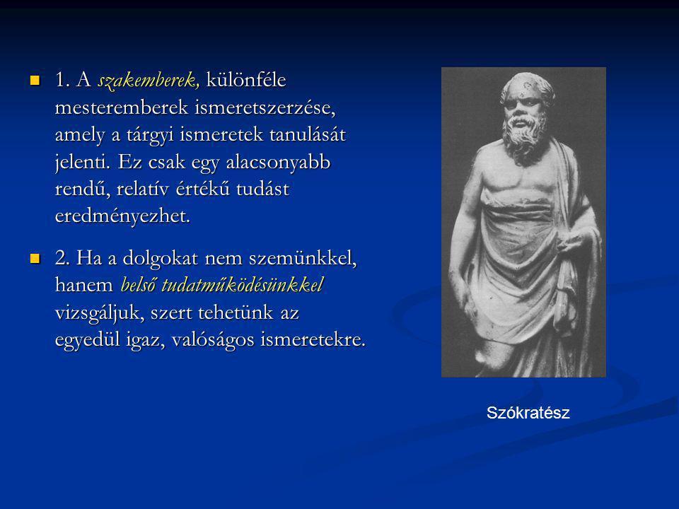 Neveléstörténeti szempontból nagyon jelentős Szókratésznek az eljárása, mellyel vitapartnerét a konkrét tapasztalat zavaros képzeteiből rávezette az igazságra.