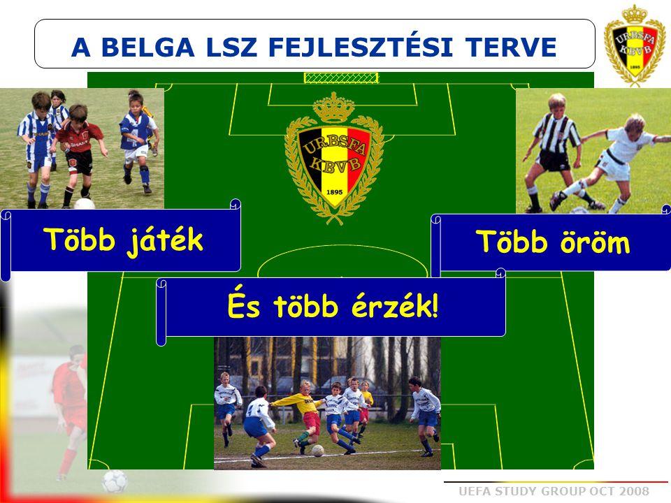 UEFA STUDY GROUP OCT 2008 Több játék Több öröm És több érzék! A BELGA LSZ FEJLESZTÉSI TERVE