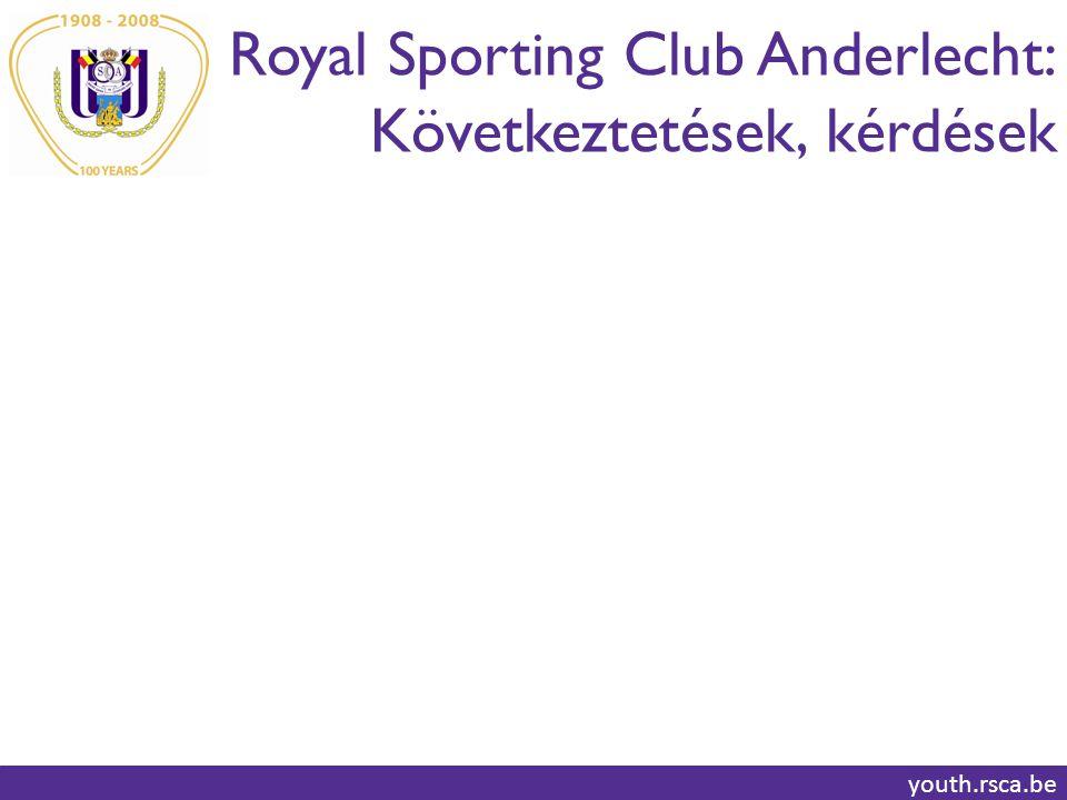 Royal Sporting Club Anderlecht: Következtetések, kérdések youth.rsca.be