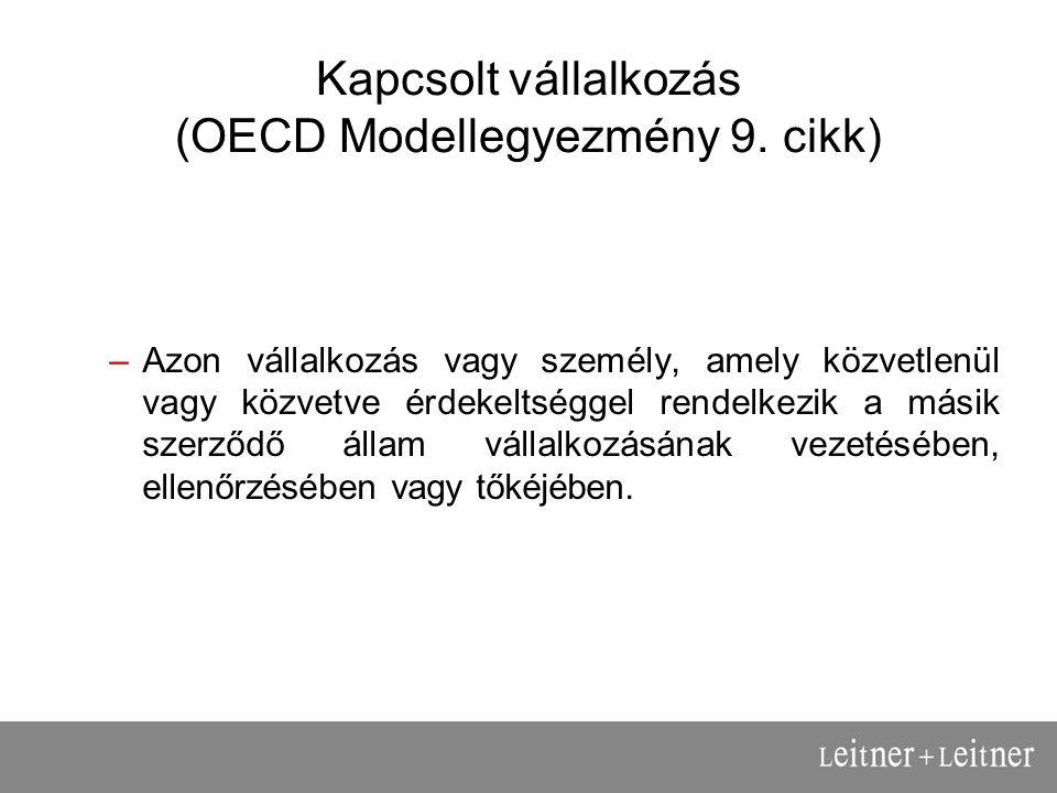 Kapcsolt vállalkozás (OECD Modellegyezmény 9.