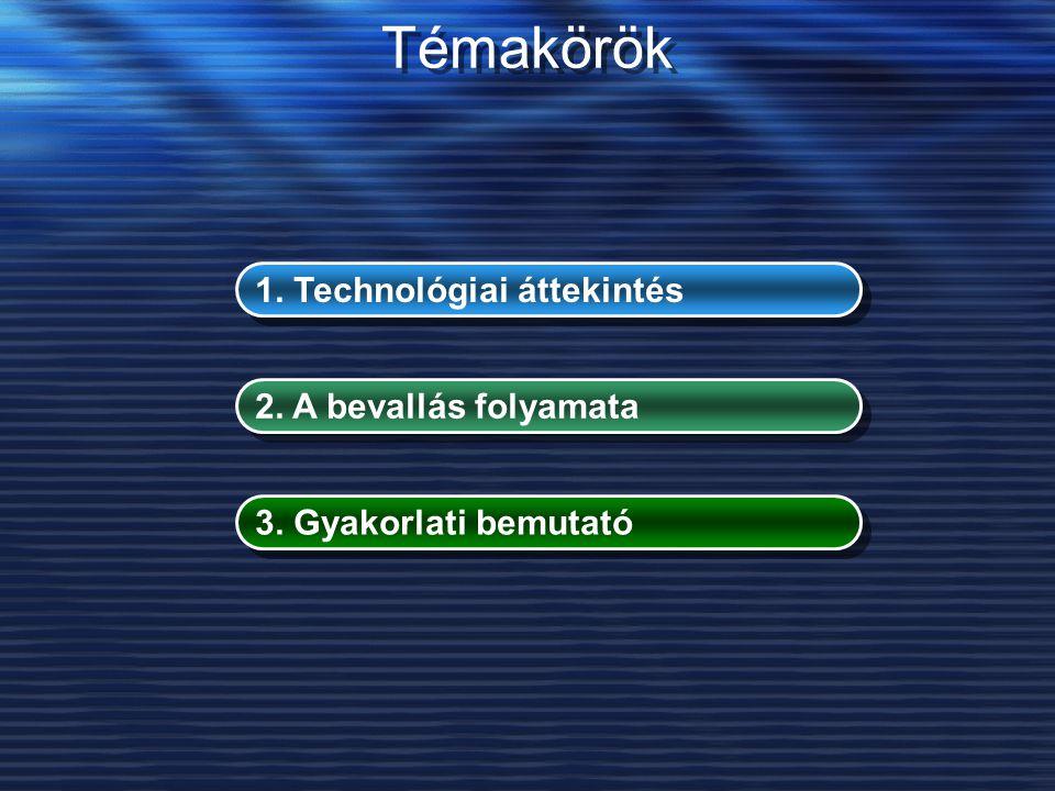 Témakörök 1. Technológiai áttekintés 2. A bevallás folyamata 3. Gyakorlati bemutató