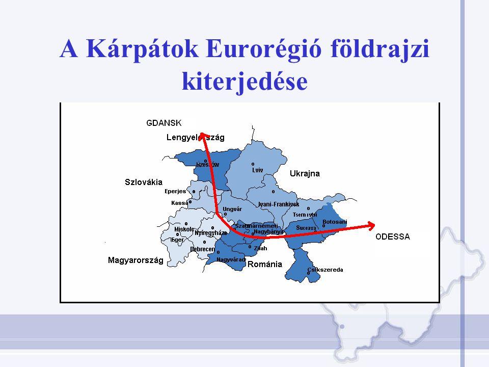 A Kárpátok Eurorégió földrajzi kiterjedése