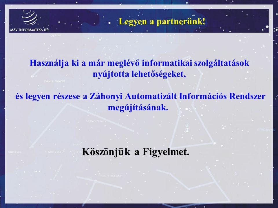 Használja ki a már meglévő informatikai szolgáltatások nyújtotta lehetőségeket, és legyen részese a Záhonyi Automatizált Információs Rendszer megújítá