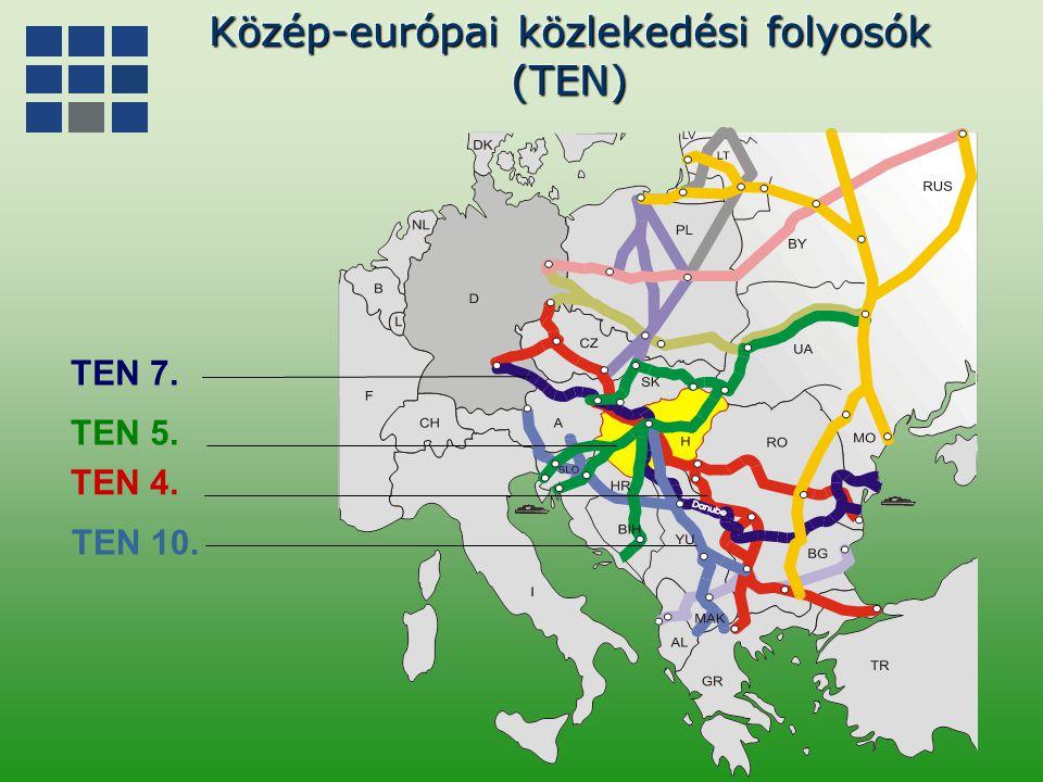 Logisztikai vonzáskörzetek Magyarországon