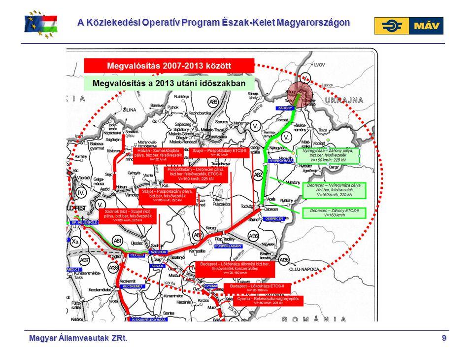 A Közlekedési Operatív Program Észak-Kelet Magyarországon 9Magyar Államvasutak ZRt.