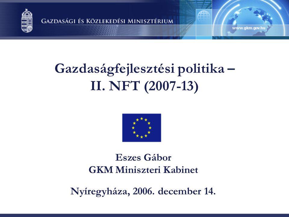 Gazdaságfejlesztési politika – II.