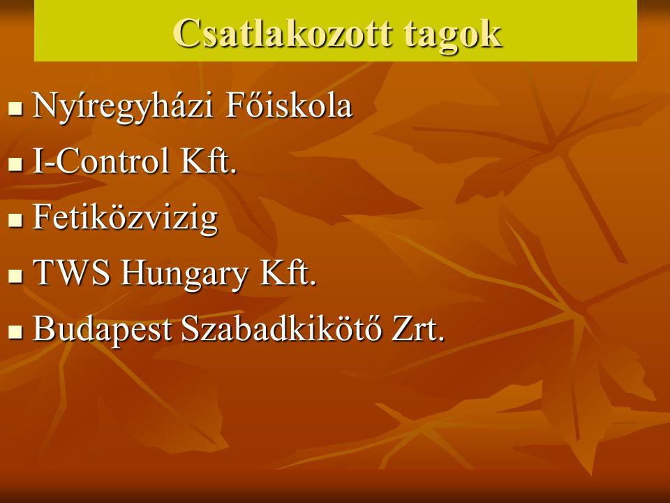 Csatlakozott tagok Nyíregyházi Főiskola Nyíregyházi Főiskola I-Control Kft.