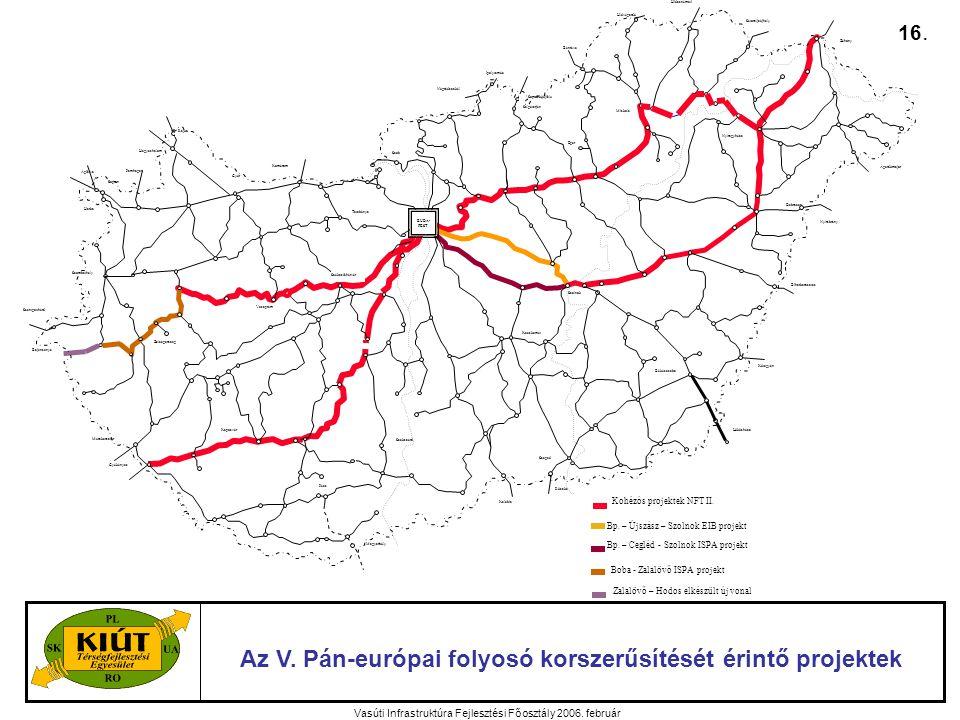 Vasúti Infrastruktúra Fejlesztési Főosztály 2006. február Az V.