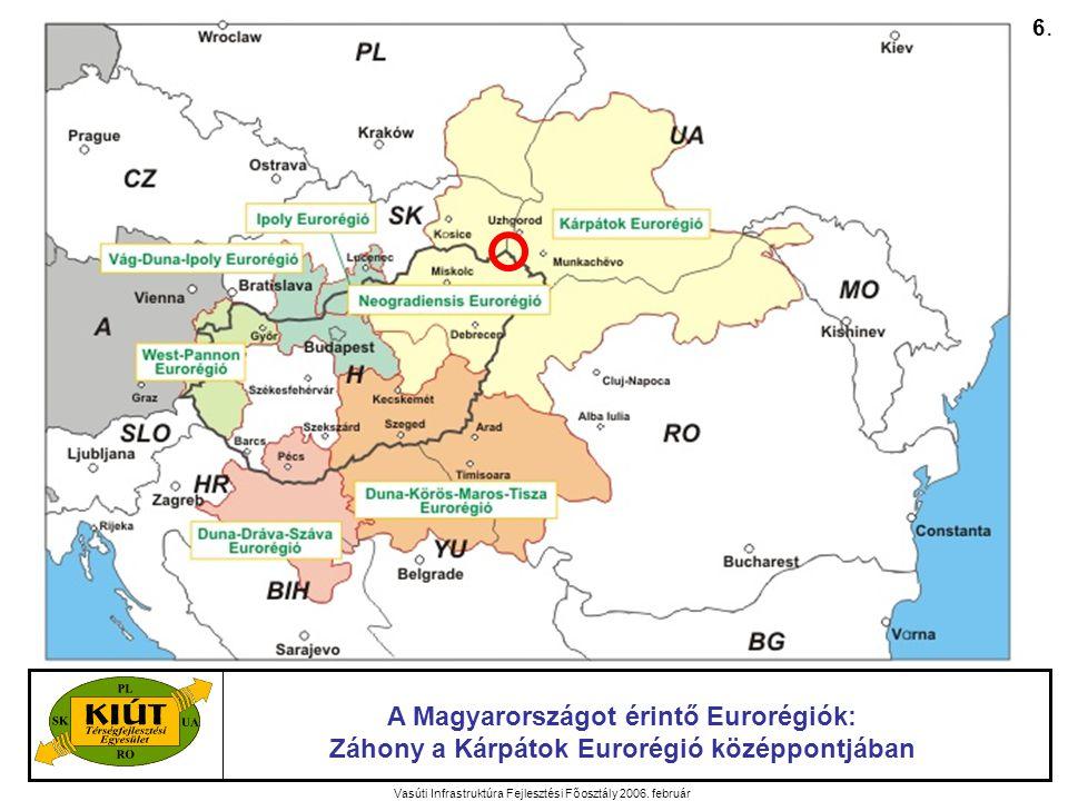 Vasúti Infrastruktúra Fejlesztési Főosztály 2006. február Az EU támogatások alakulása 17.