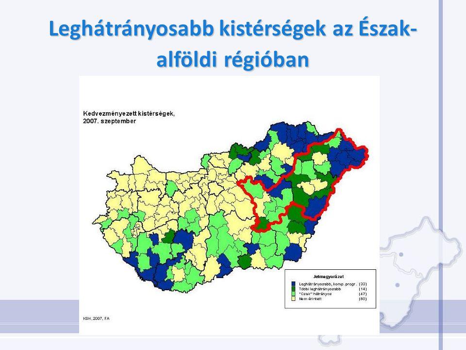 Leghátrányosabb kistérségek az Észak- alföldirégióban Leghátrányosabb kistérségek az Észak- alföldi régióban
