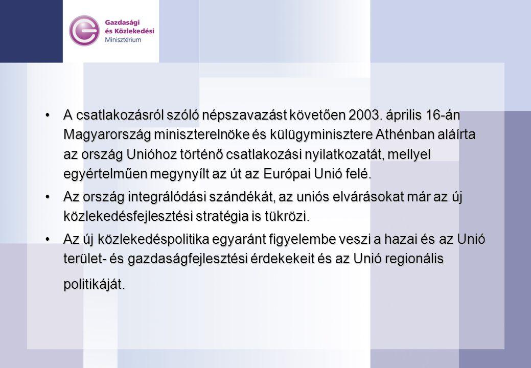 A csatlakozásról szóló népszavazást követően 2003. április 16-án Magyarország miniszterelnöke és külügyminisztere Athénban aláírta az ország Unióhoz t