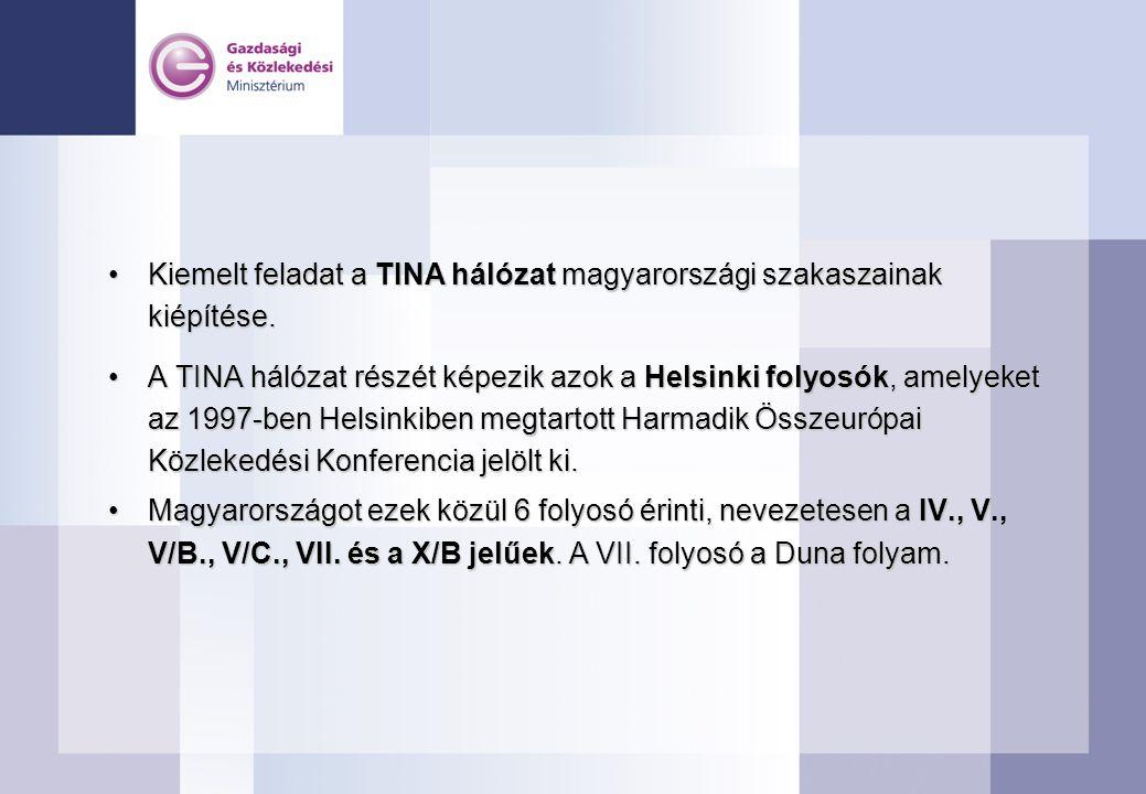 Kiemelt feladat a TINA hálózat magyarországi szakaszainak kiépítése.Kiemelt feladat a TINA hálózat magyarországi szakaszainak kiépítése. A TINA hálóza