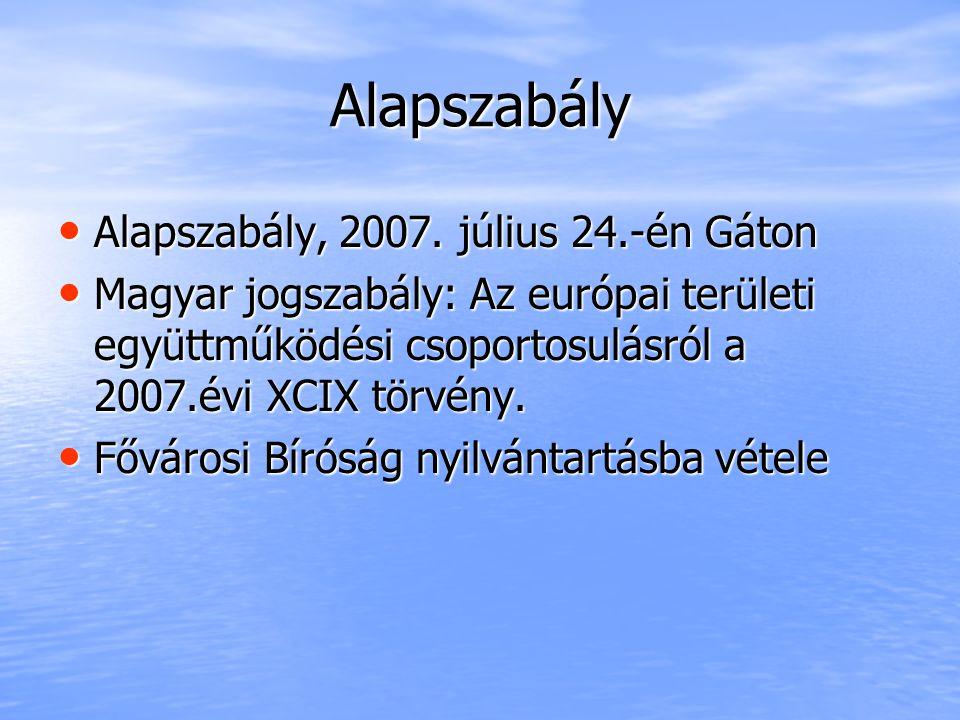 Alapszabály Alapszabály, 2007. július 24.-én Gáton Alapszabály, 2007.