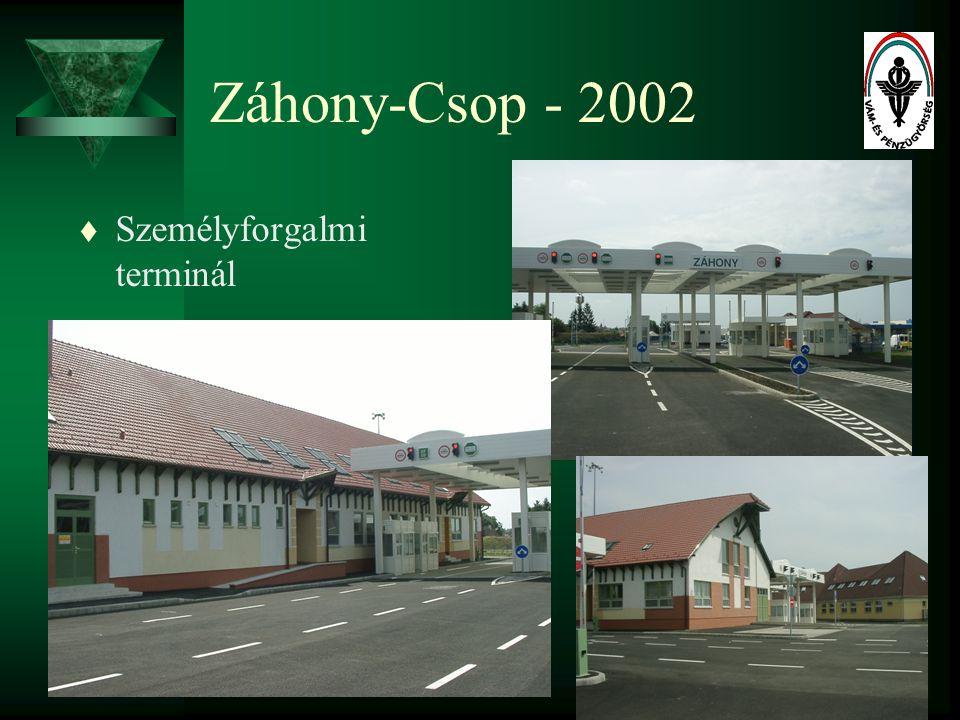 21 Záhony-Csop - 2002 t Személyforgalmi terminál