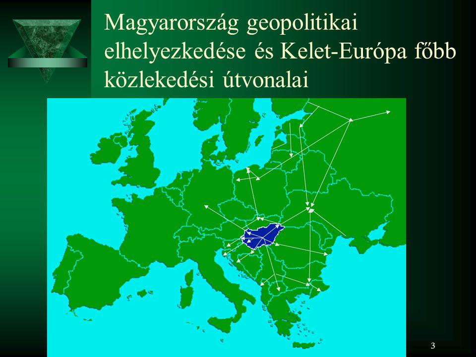 4 Magyarországon áthaladó közúti tranzit folyosók Hegyeshalom Budapest Barabás Záhony Nagylak Röszke Illocska Letenye Tornyiszentmiklós Rajka