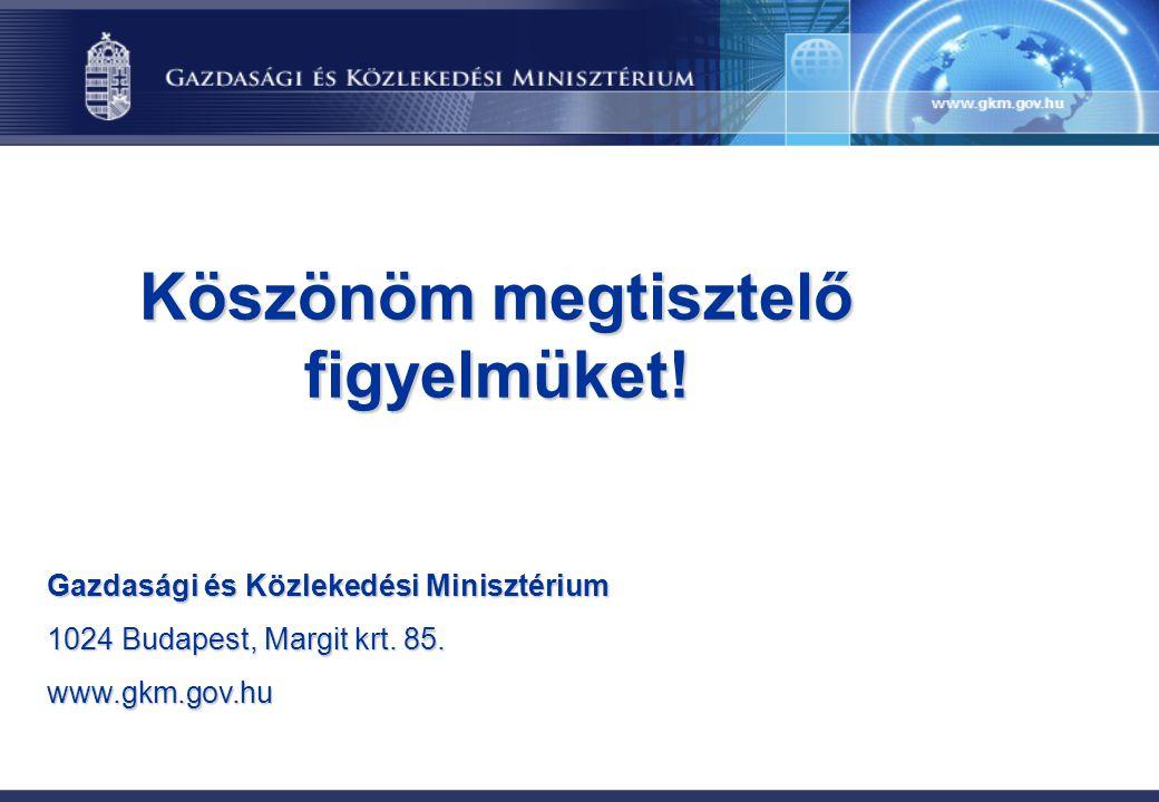 Köszönöm megtisztelő figyelmüket! Gazdasági és Közlekedési Minisztérium 1024 Budapest, Margit krt. 85. www.gkm.gov.hu