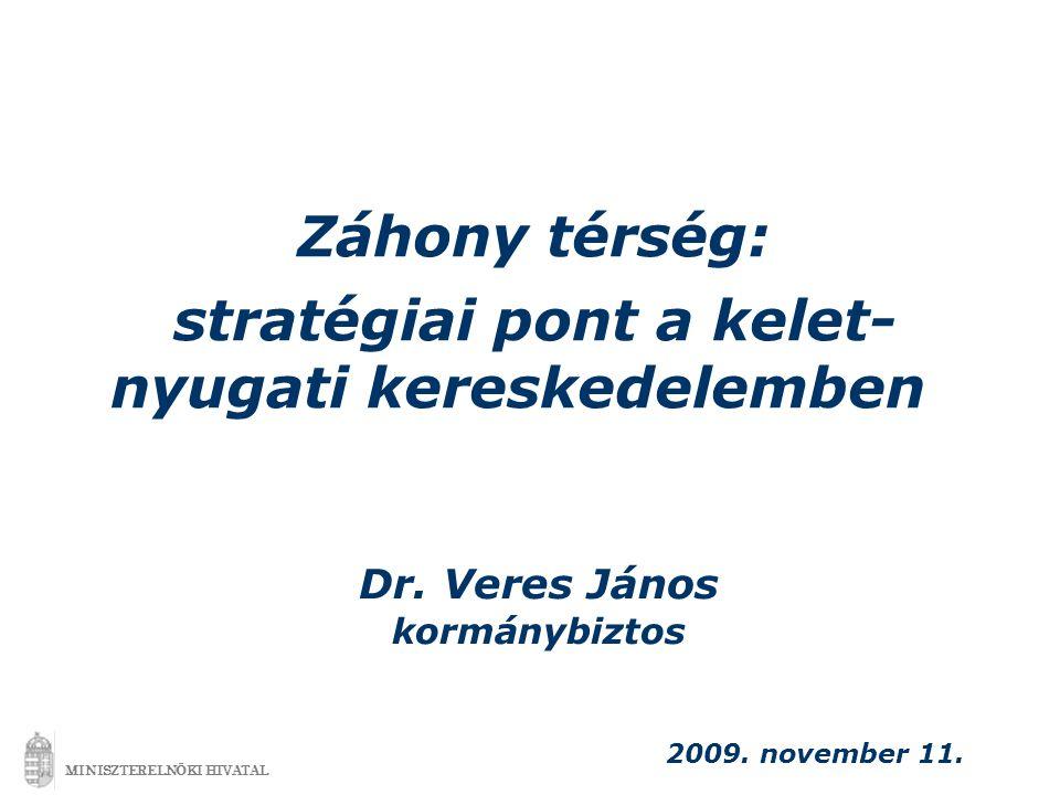 Záhony térség: stratégiai pont a kelet- nyugati kereskedelemben 2009.