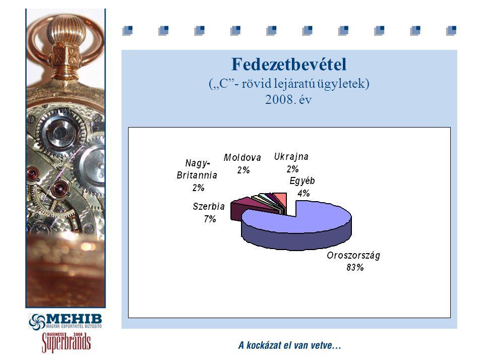 """Fedezetbevétel (""""C""""- rövid lejáratú ügyletek) 2008. év"""