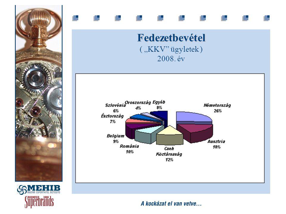 """Fedezetbevétel Fedezetbevétel ( """"KKV"""" ügyletek ) 2008. év"""