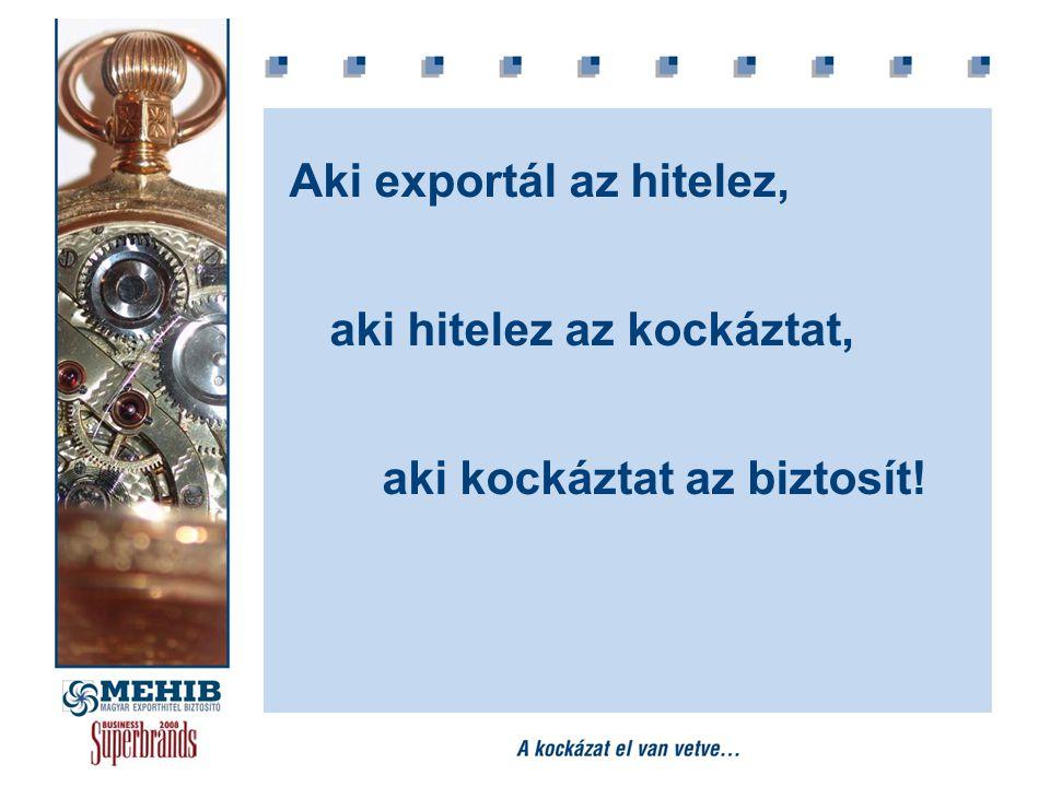 Aki exportál az hitelez, aki hitelez az kockáztat, aki kockáztat az biztosít!