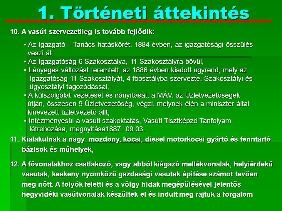 Történeti áttekintés 13.