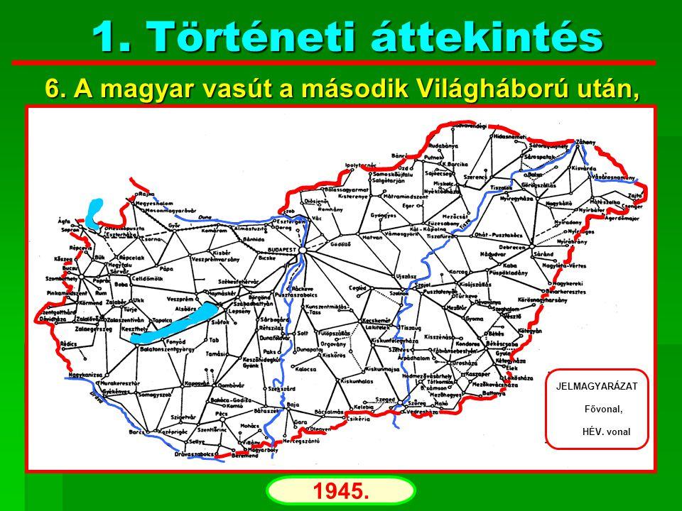 Történeti áttekintés 7. A magyar vasút napjainkban