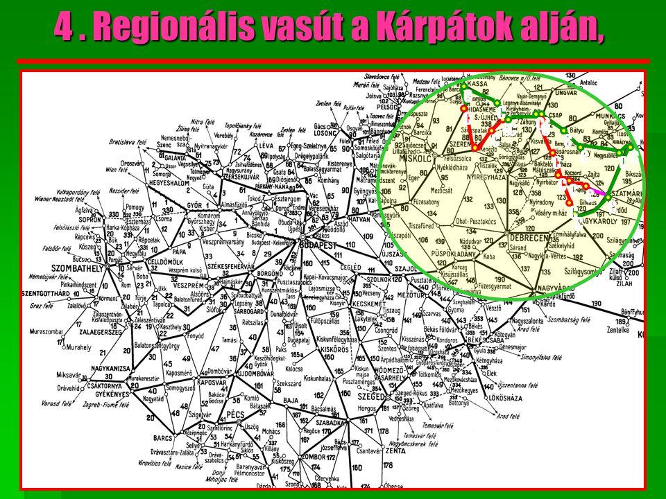 JELMAGYARÁZAT Meglévő magyar vasút Meglévő határon túli vasút Építendő vonalszakasz 4.