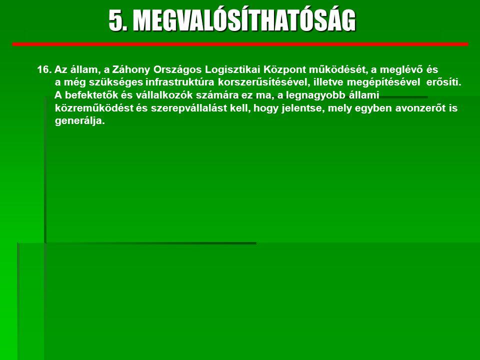 5.MEGVALÓSÍTHATÓSÁG 9. SZAKÉRTŐI VÉLEMÉNYEK 1.