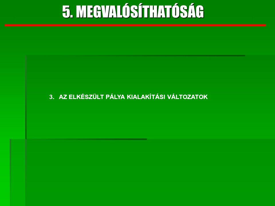 4. JAVASOLT VÁLTOZAT 5. MEGVALÓSÍTHATÓSÁG