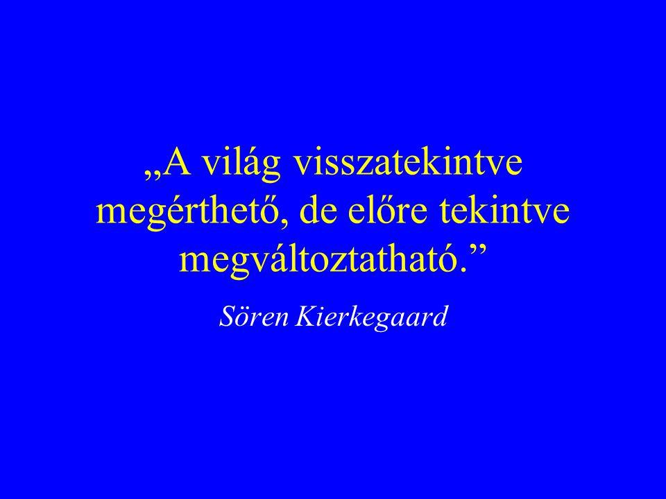 """""""A világ visszatekintve megérthető, de előre tekintve megváltoztatható. Sören Kierkegaard"""