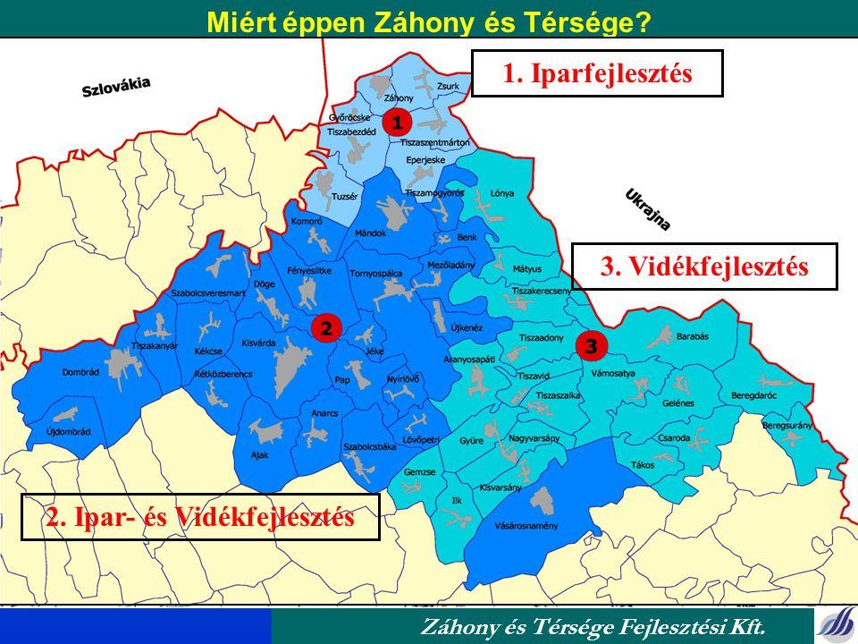 Kijelölés éve Kiterjedés Menedzsment szervezet Záhony és Térsége Fejlesztési Kft. Stratégiai adottság 50 település, Kisvárdai és Vásárosnaményi kistér