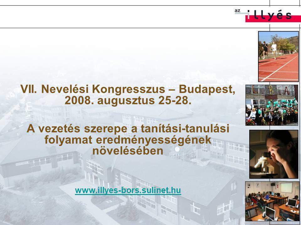 VII. Nevelési Kongresszus – Budapest, 2008. augusztus 25-28.