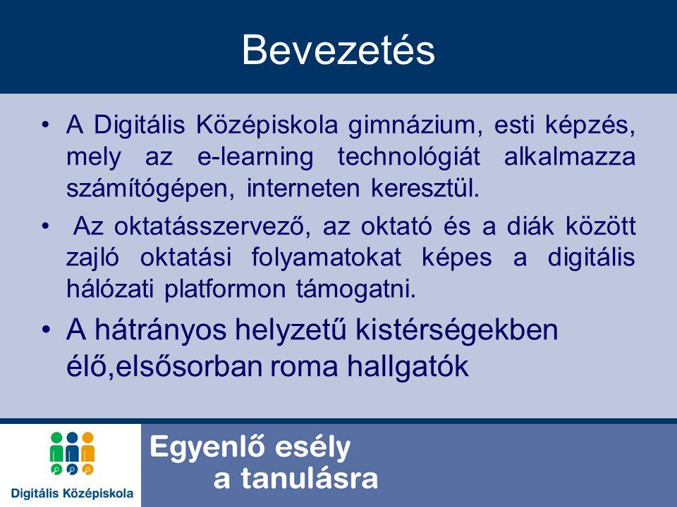 Bevezetés A Digitális Középiskola gimnázium, esti képzés, mely az e-learning technológiát alkalmazza számítógépen, interneten keresztül. Az oktatássze