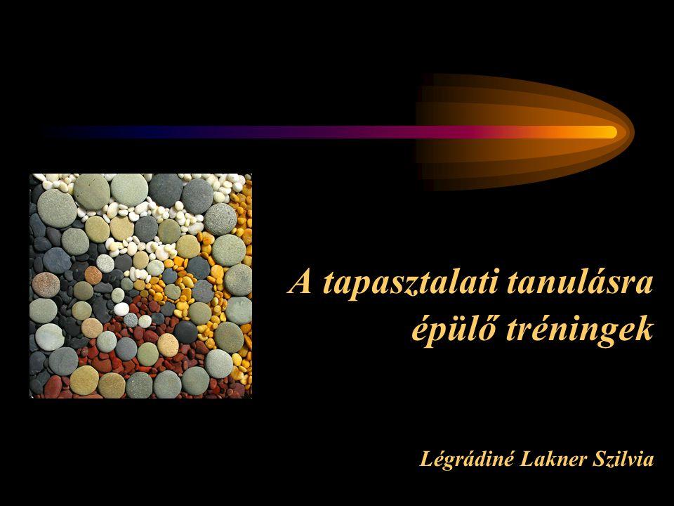 A tapasztalati tanulásra épülő tréningek Légrádiné Lakner Szilvia