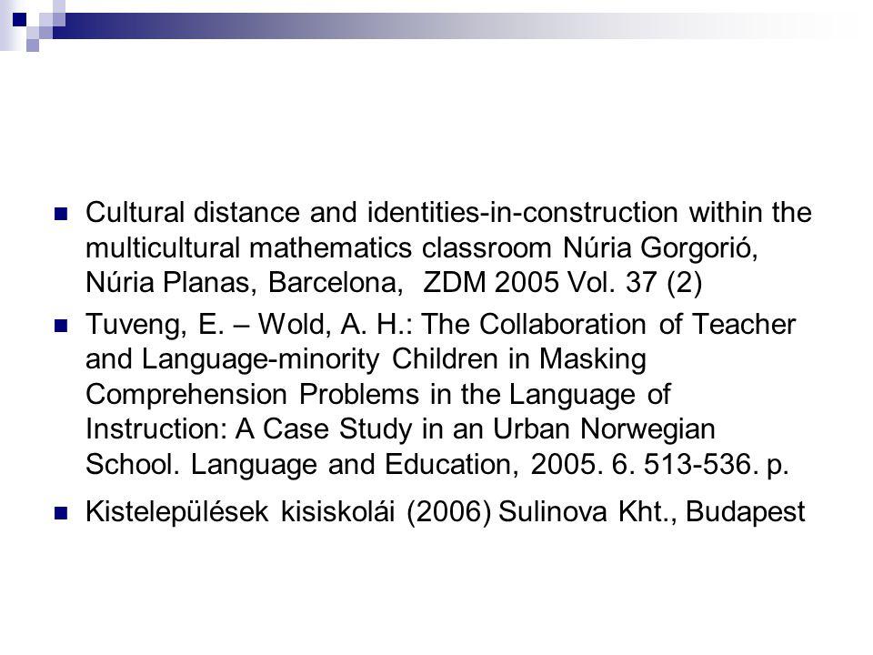 A matematikatanulás szociológiája Új irányzat, aminek sok előzménye volt (Bruner, Alan Bishop (PISA)) 2008, ICMI, Mexikó: a matematika módszertani kutatások fő árama