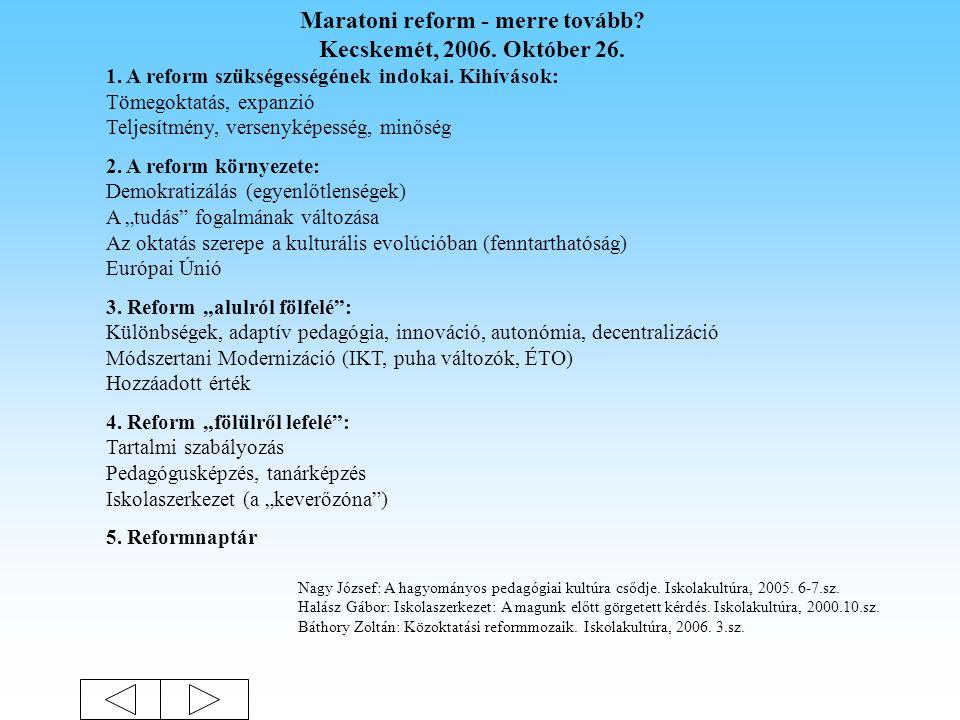 Az iskolai tudás egy lehetséges szerkezete (1) (2) (3) (4)