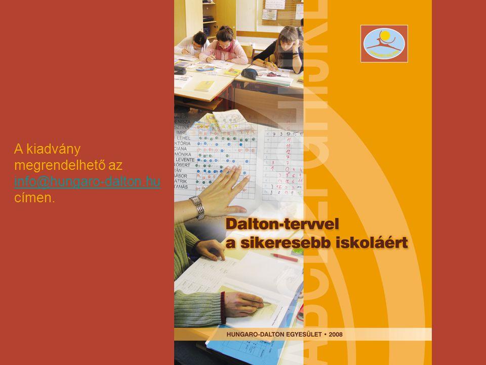 A kiadvány megrendelhető az info@hungaro-dalton.hu címen.