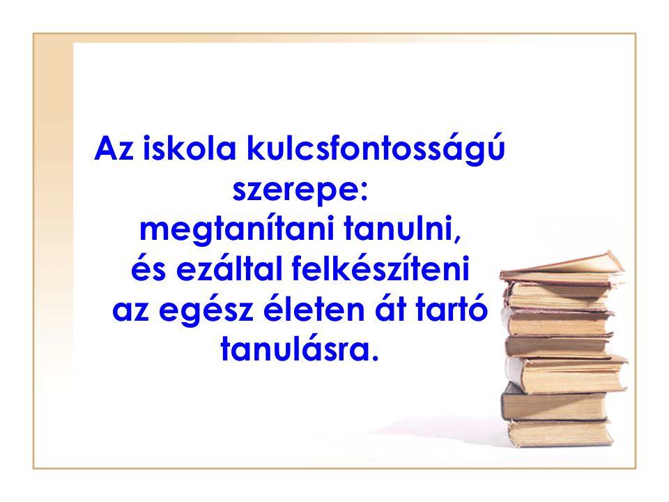 Autonóm tanulás kutatás OTKA-projekt 2007-2009.K63555 Vezető kutató: prof.