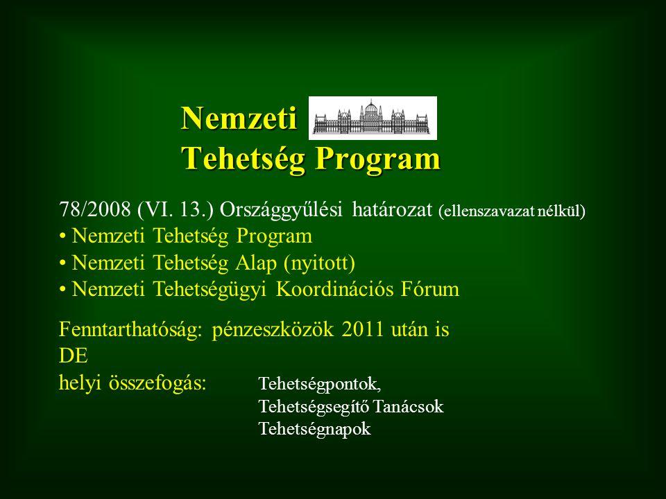Nemzeti Tehetség Program 78/2008 (VI.