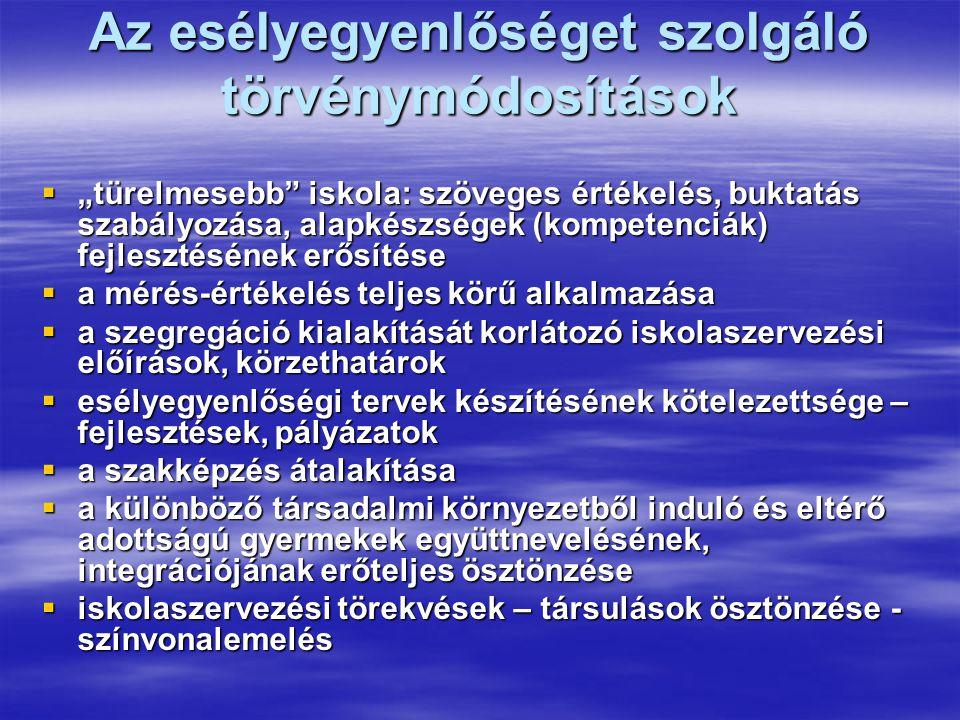 A sajátos nevelési igényű gyermekek, tanulók ellátásáról A 2006.