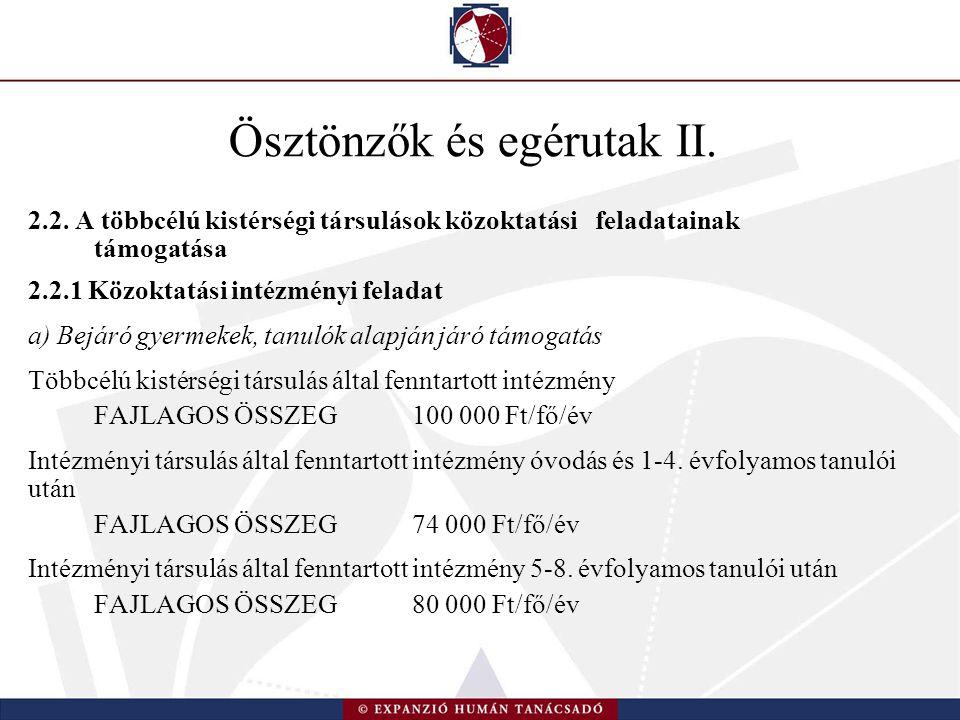 Ösztönzők és egérutak II. 2.2.