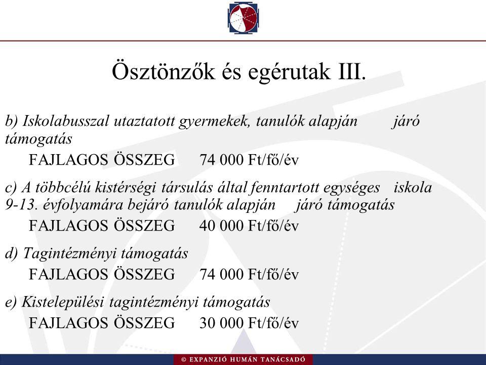 Ösztönzők és egérutak III.